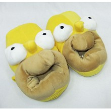 The Simpsons plush slippers a pair