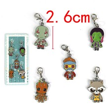 Guardians of the Galaxy key chains set