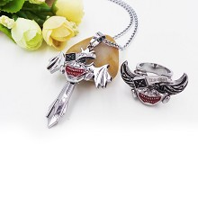 Tokyo ghoul necklace+ring