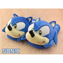 Sonic plush slippers a pair