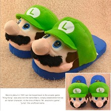 Super Mario plush slippers a pair