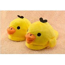 The yellow duck plush slippers a pair