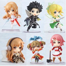 Sword Art Online figures(6pcs a set)