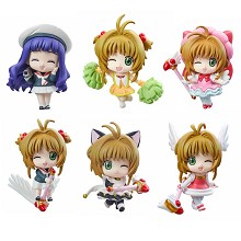 Card Captor Sakura figures(6pcs a set)