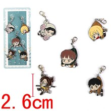 Attack on Titan key chains set