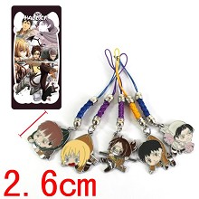 Attack on Titan phone straps set