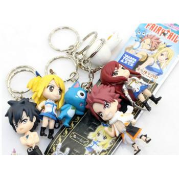 Fairy Tail figure key chains(6pcs a set)