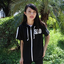 Sword Art Online short sleeve thin hoodie