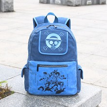 One Piece canvas backpack bag