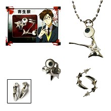 Parasyte ring+necklace+earring