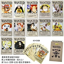One Piece wanted posters(12pcs a set)