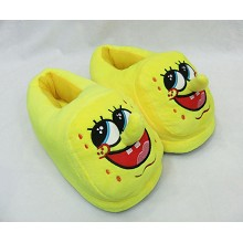 Spongebob plush slippers a pair