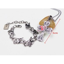 Fairy Tail necklace+bracelet