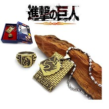 Attack on Titan necklace+ring set