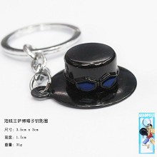 One Piece Sabo hat key chain