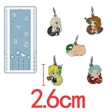 The Seven Deadly Sins key chains a set