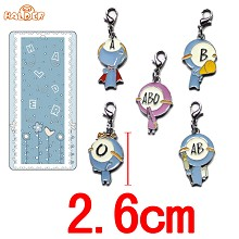Ketsuekigata Kun key chains a set