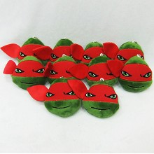 4inches Teenage Mutant Ninja Turtles plush dolls set(10pcs)