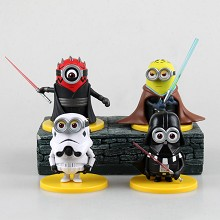 Star Wars Despicable Me figures set(4pcs a set)