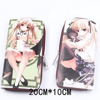 Yosuga no Sora anime pu long wallet/purse
