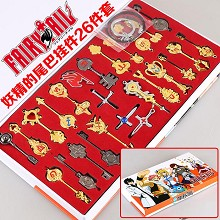 Fairy Tail key chains set(26pcs a set)