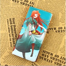 Spice and Wolf pu long wallet