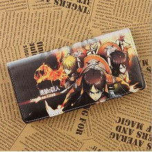 Attack on Titan pu long wallet