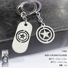 Captain America lovers key chains