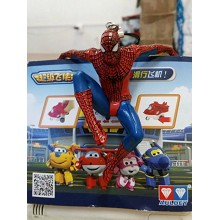 Spider man figure doll key chain
