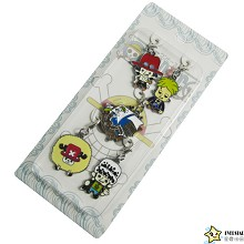 One Piece key chains a set
