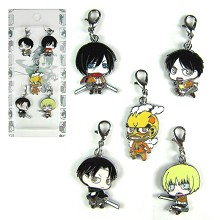 Attack on Titan key chains a set