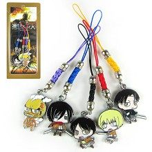 Attack on Titan phone straps a set