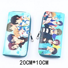 Free! anime pu long wallet/purse