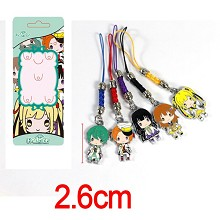 The anime phone straps a set