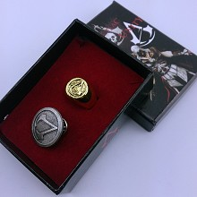 Assassin's Creed pin+ring a set