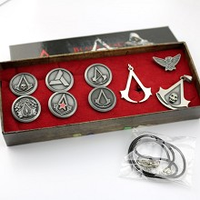 Assassin's Creed necklace+pin a set