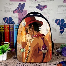 One Piece ACE anime backpack bag