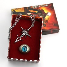 Fate Stay Night anime ring+necklace a set