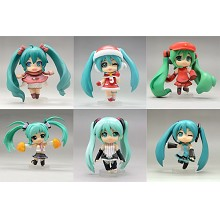 Hatsune Miku anime figures set(6pcs a set)