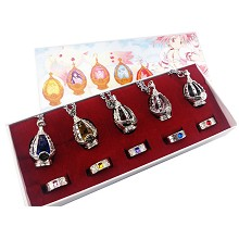 Puella Magi Madoka Magica anime necklaces+rings a set