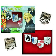 Attack on Titan anime brooch pins set(4pcs a set)