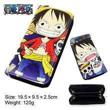 One Piece luffy anime pu long wallet/purse
