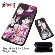 Kuroshitsuji anime pu long wallet/purse