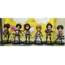 Attack on Titan anime figures set(6pcs a set)