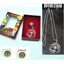 Fullmetal Alchemist anime ring+necklace