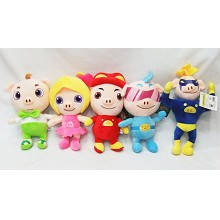 8inches GG. Bond anime plush dolls set(5pcs a set)