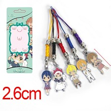 Shokugeki no Soma anime phone straps a set
