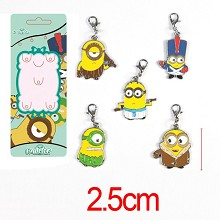 Despicable Me anime key chains a set