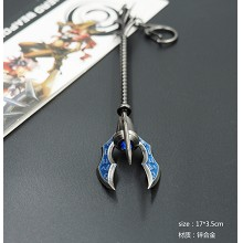 League of Legends cos weapon key chain