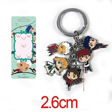 Fate stay night anime key chain